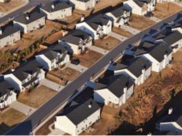 suburbs stock photo